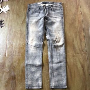 AG distressed the Stilt jean in gray